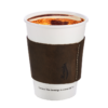 Dark brown leather coffee cup sleeve