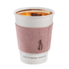 Pink leather coffee sleeve