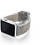 suede-GREY-leather Apple-watch-band-left-case