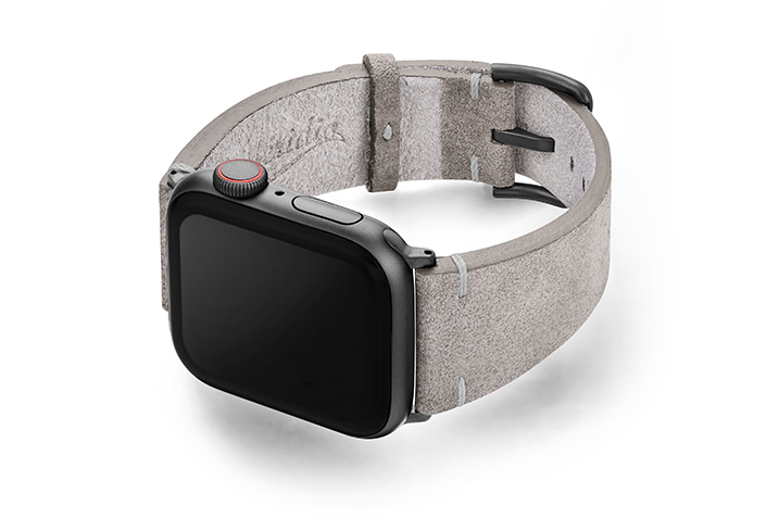 Taupewood-suede-leather-band-with-space-grey-case-on-left