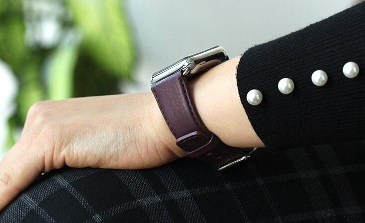 BURGUNDY-nappa-leather-apple-watch-band-woman