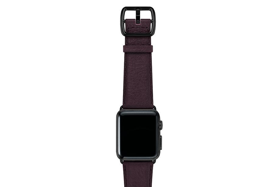 Burgundy-prugna-nappa-applewatchleatherband-blackcase