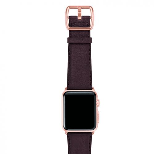 Burgundy-prugna-nappa-applewatchleatherband-rosegoldcase