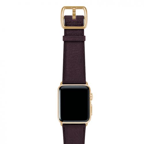 Burgundy-prugna-nappa-applewatchleatherband-yellowgoldcase