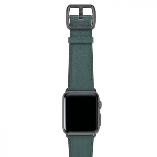 Denim-blue-nappa-applewatchleatherband-spacegreycase