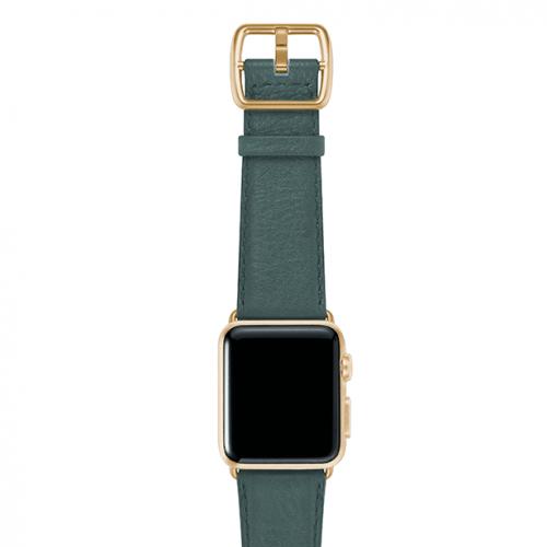 Denim-blue-nappa-applewatchleatherband-yellowgoldcase