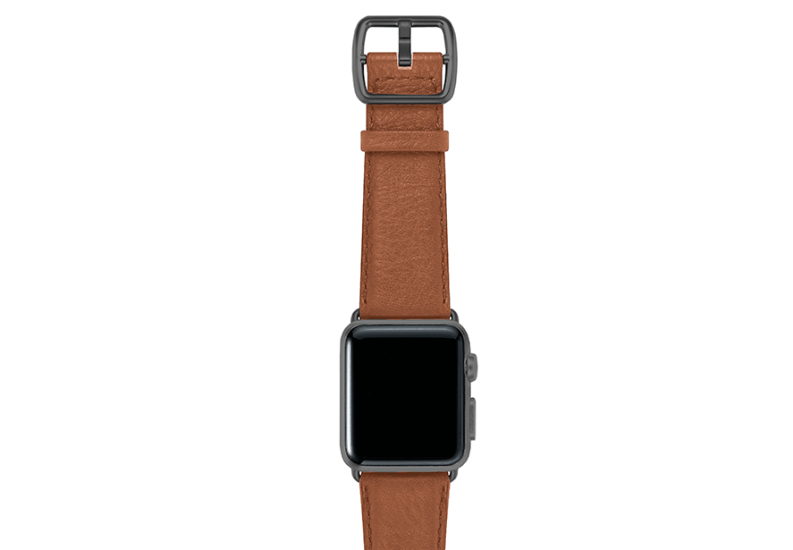 GoldenStone-marronechiaro-nappa-applewatchleatherband-spacegreycase