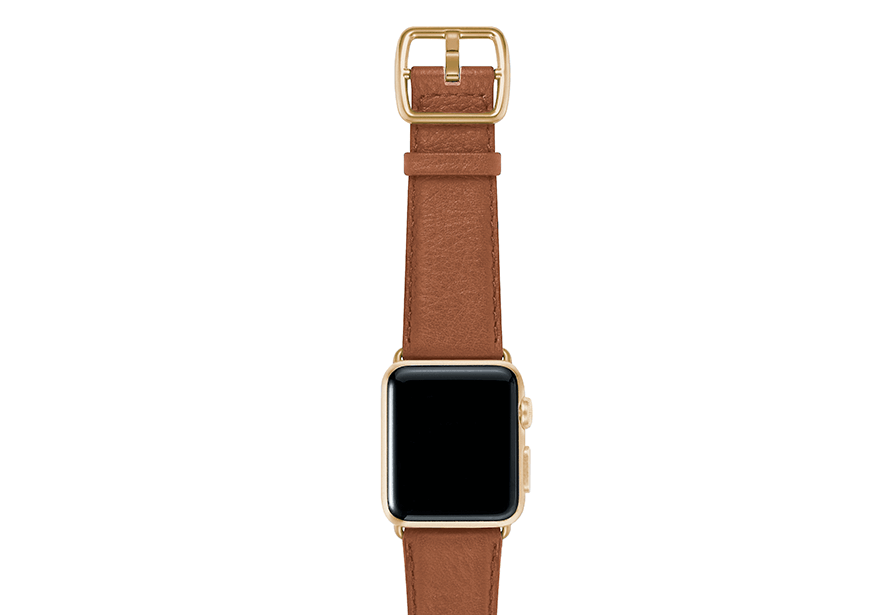 GoldenStone-marronechiaro-nappa-applewatchleatherband-yellowgoldcase