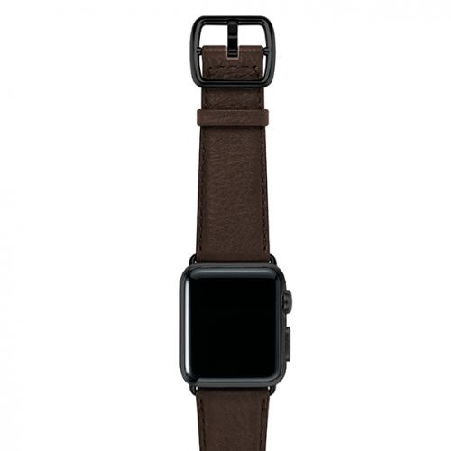 SlateBrown-testadimoro-nappa-applewatchleatherband-blackcase