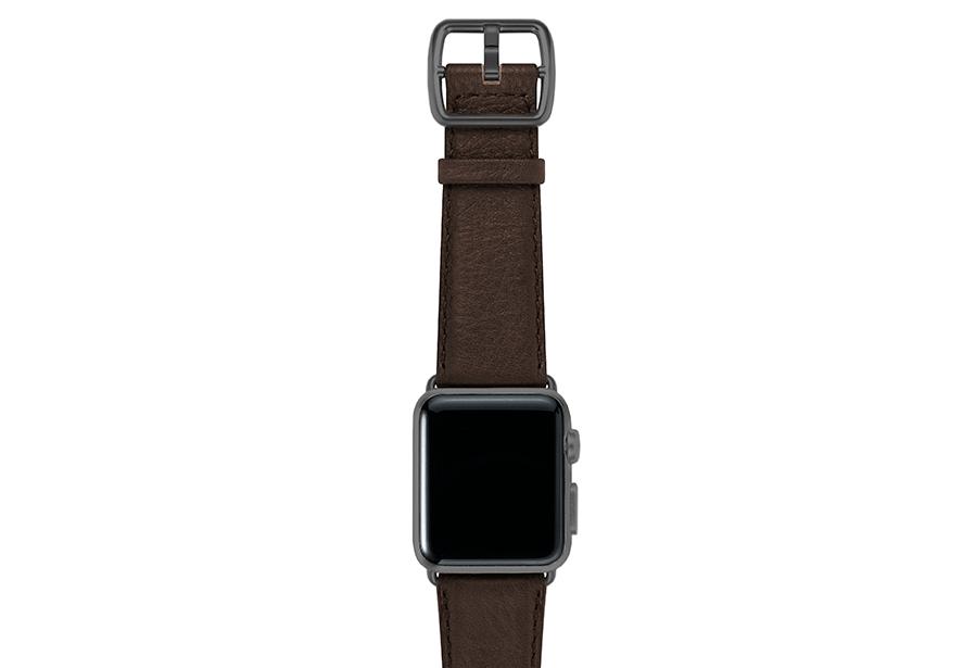 SlateBrown-testadimoro-nappa-applewatchleatherband-spacegreycase