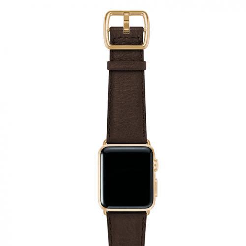 SlateBrown-testadimoro-nappa-applewatchleatherband-yellowgoldcase