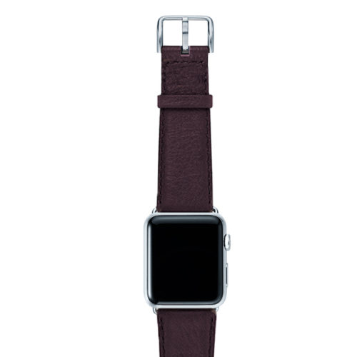Burgundy-nappa-band-on-top-with-silver-adaptors