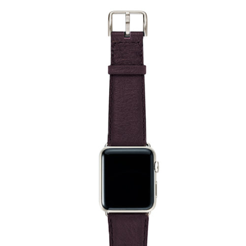 Burgundy-nappa-band-on-top-with-stainless-steel-adaptors