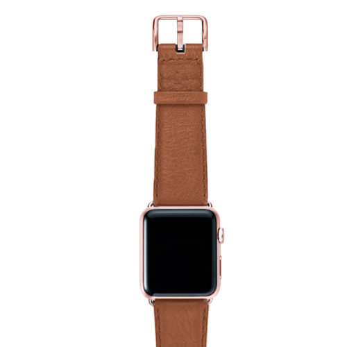 Goldstone-light-brown-band-on-top-with-rose-gold-adaptors