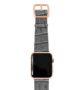 Intercostal-Apple-watch-black-genuine-leather-band-gold-series-3-case