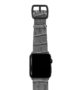Intercostal-Apple-watch-grey-genuine-leather-band-black-case