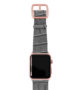 Intercostal-Apple-watch-grey-genuine-leather-band-rose-gold-case