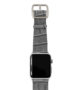 Intercostal-Apple-watch-grey-genuine-leather-band-silver-case