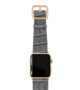Intercostal-Apple-watch-grey-genuine-leather-band-yellow-gold-case