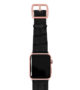 Pitch-black-Apple-watch-light-brown-genuine-leather-rose-gold-case