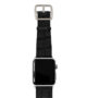 Pitch-black-Apple-watch-light-brown-genuine-leather-silver-case