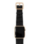 Pitch-black-Apple-watch-light-brown-genuine-leather-yellow-gold-case