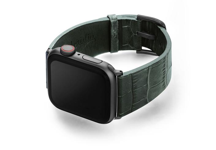 Shamrock-Apple-watch-green-genuine-leather-left-case