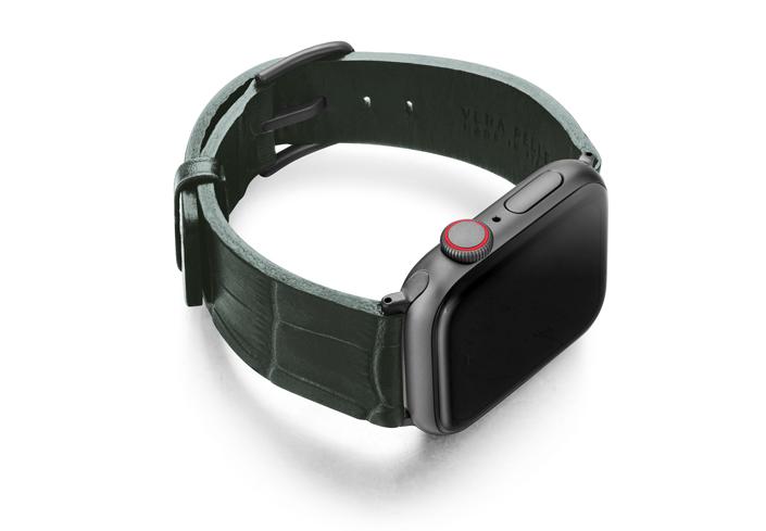 Shamrock-Apple-watch-green-genuine-leather-right-case