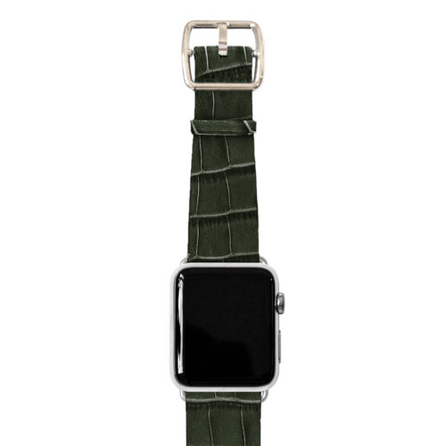 Shamrock-Apple-watch-green-genuine-leather-stainless-case