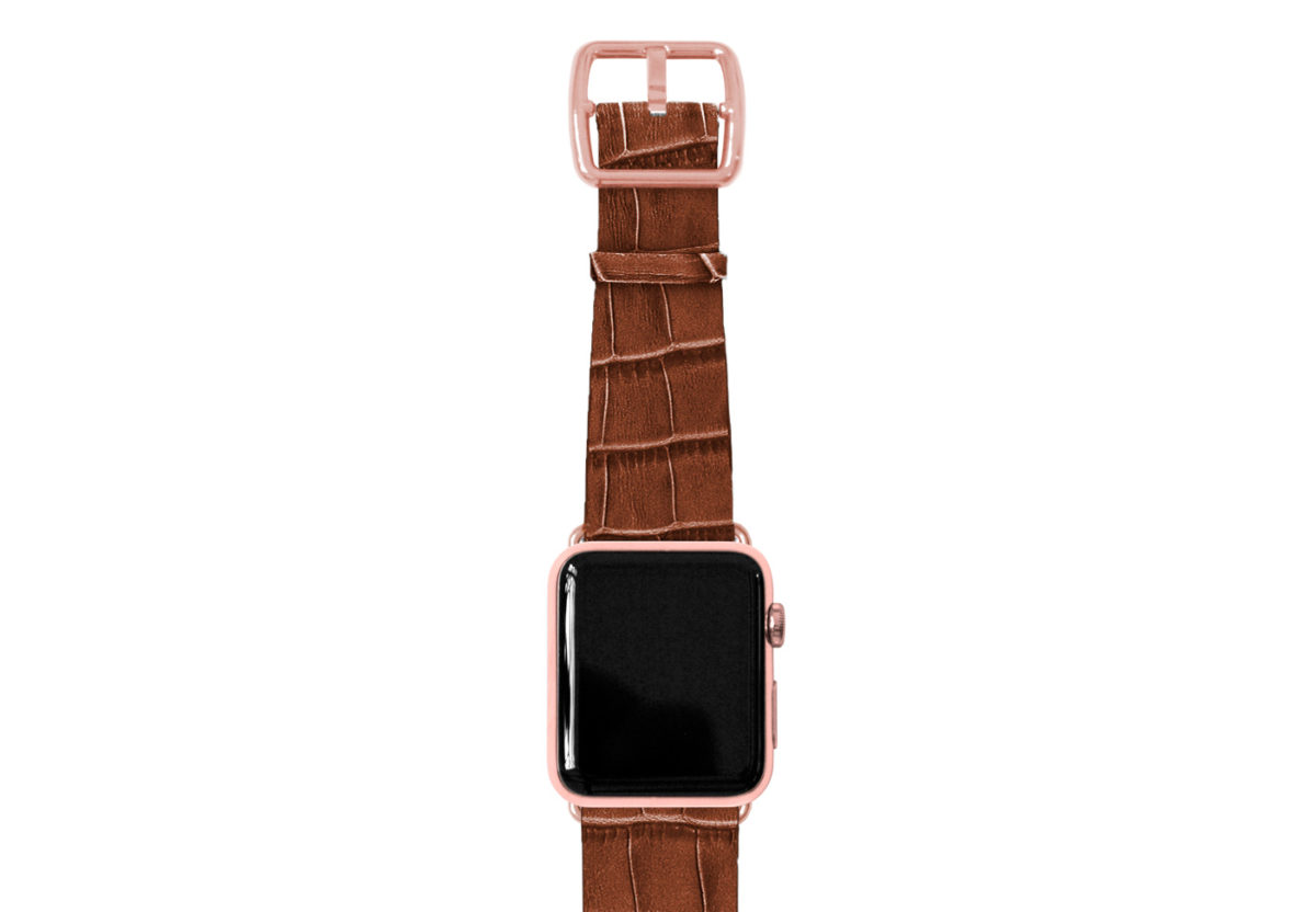 global-waters-Apple-watch-blue-genuine-leather-band-stainless-case