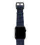 global-waters-Apple-watch-blue-genuine-leather-band-black-case