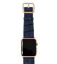 global-waters-Apple-watch-blue-genuine-leather-band-gold-series-3-case