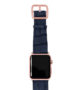global-waters-Apple-watch-blue-genuine-leather-band-rose-gold-case