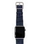 global-waters-Apple-watch-blue-genuine-leather-band-silver-case