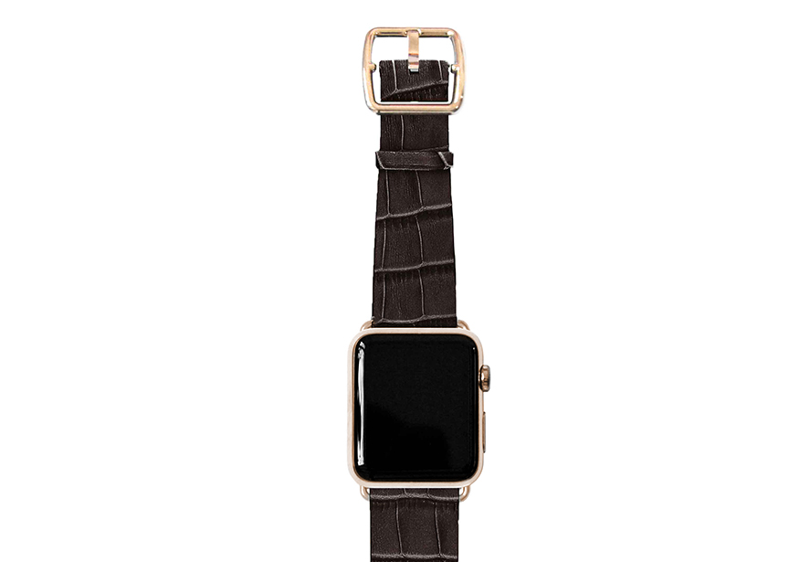 reptilia_DEEP-brown-band-with-stainless-gold-adaptors