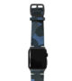 Blue-Combact-Apple-watch-suede-camouflage-band-on-top-black-case