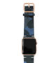 Blue-Combact-Apple-watch-suede-camouflage-band-on-top-gold-series3-case