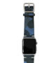 Blue-Combact-Apple-watch-suede-camouflage-band-on-top-silver-case