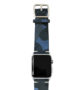 Blue-Combact-Apple-watch-suede-camouflage-band-on-top-stainless-case