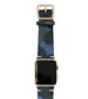 Blue-Combact-Apple-watch-suede-camouflage-band-on-top-yellow-gold-case