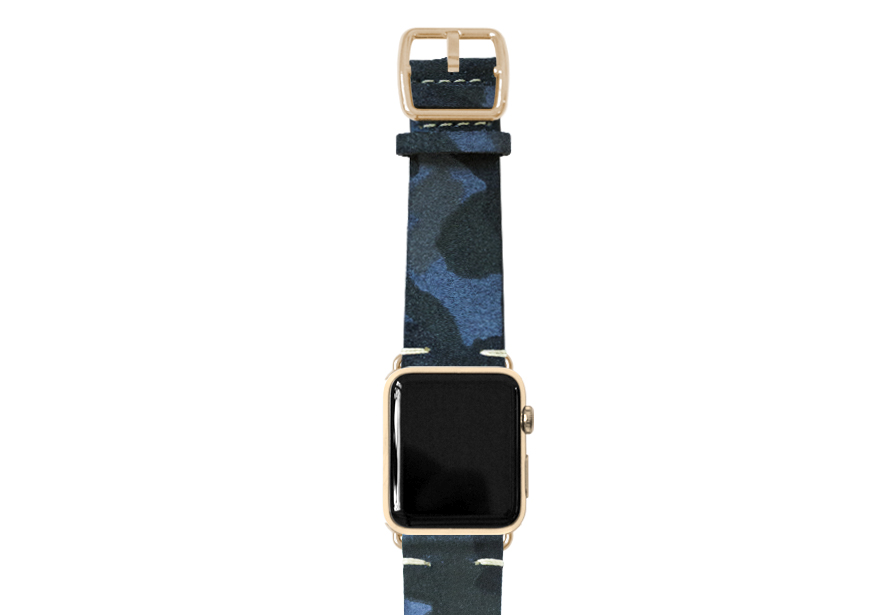 Blue Combact Apple watch camouflage