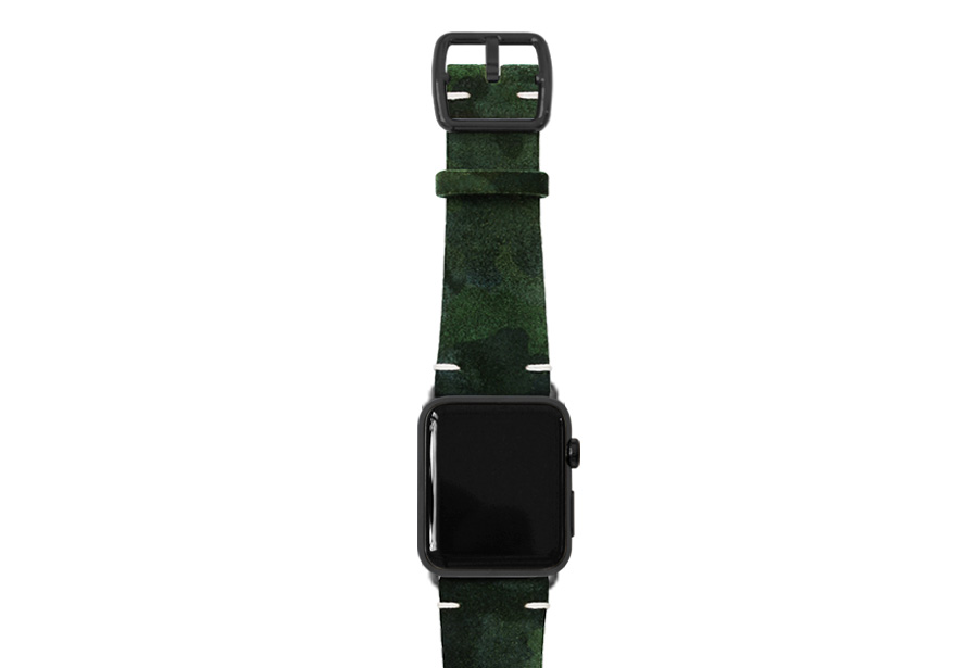Green Guerilla Apple watch camouflage
