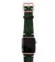 Green-Guerilla-Apple-watch-camouflage-band-on-top-rose-gold-case