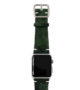 Green-Guerilla-Apple-watch-camouflage-band-on-top-silver-case