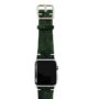 Green-Guerilla-Apple-watch-camouflage-band-on-top-stainless-case