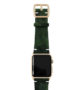 Green-Guerilla-Apple-watch-camouflage-band-on-top-yellow-gold-case