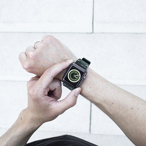 Green Guerilla Apple watch band