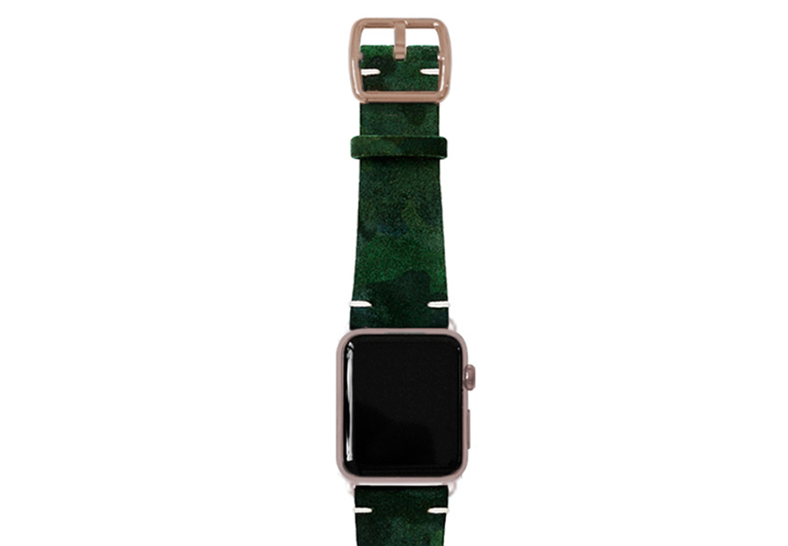 green-suede-camouflage-band-with-alum-gold-adaptors