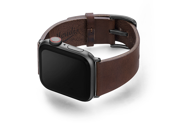 Burnt-AW-full-grain-leather-band-with-space-grey-case-on-left