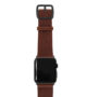 Burnt-Apple-watch-deeep-brown-genuine-leather-band-with-black-case